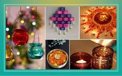Diwali Decoration Ideas with Creative Rangolis, Torans, Candles, Wall Paintings
